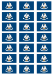 Louisiana Flag Stickers - 21 per sheet